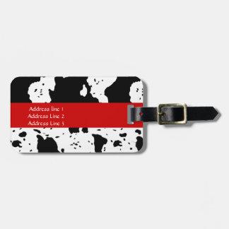 Etiqueta del equipaje del modelo de la vaca etiqueta para maleta