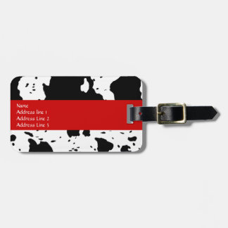 Etiqueta del equipaje del modelo de la vaca etiqueta de maleta