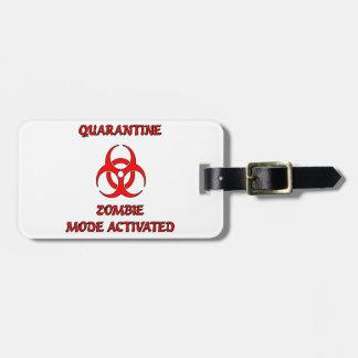 Etiqueta del equipaje del modo del zombi