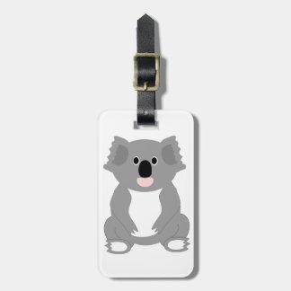 Etiqueta del equipaje del oso de koala etiquetas de equipaje
