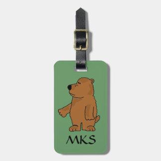 Etiqueta del equipaje del oso del AF Brown Etiqueta Para Equipaje