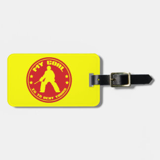 Etiqueta del equipaje del portero del hockey etiquetas para equipaje