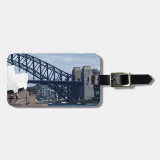 Etiqueta del equipaje del puerto de Sydney Etiquetas Bolsas