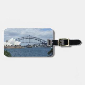 Etiqueta del equipaje del puerto de Sydney Etiquetas Bolsa