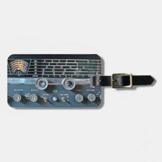 Etiqueta del equipaje del receptor de radio de la etiquetas bolsas