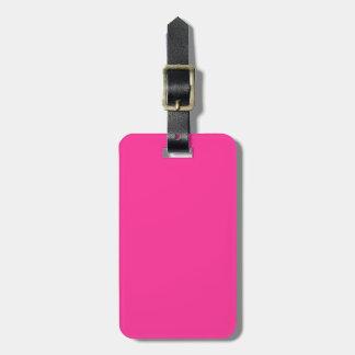 Etiqueta del equipaje del rosa de la fresa salvaje etiqueta de equipaje