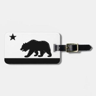 Etiqueta del equipaje del símbolo del oso de la ba etiquetas maleta