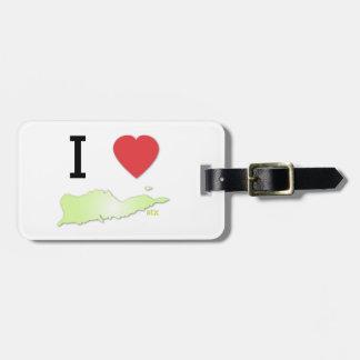 Etiqueta del equipaje del St Croix del corazón I Etiquetas Bolsa