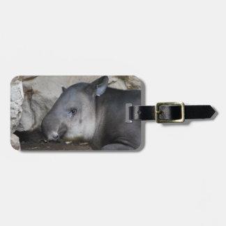 Etiqueta del equipaje del Tapir Etiquetas Bolsa