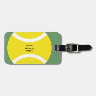 Etiqueta del equipaje del tema del tenis etiqueta para maleta