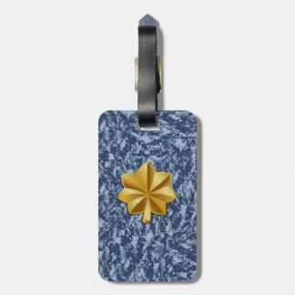 Etiqueta del equipaje del teniente comandante de etiqueta de maleta