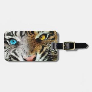 Etiqueta del equipaje del tigre etiqueta de equipaje
