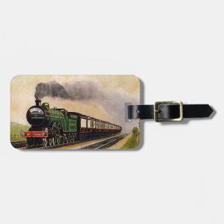 Etiqueta del equipaje del tren del vapor etiqueta de equipaje