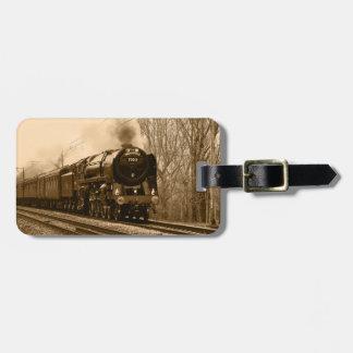 Etiqueta del equipaje del tren del vapor etiqueta para maleta