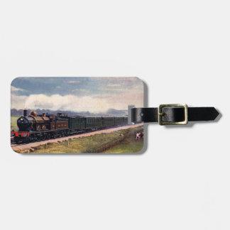 Etiqueta del equipaje del tren del vapor etiquetas de equipaje