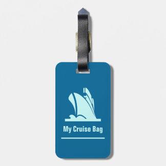 Etiqueta del equipaje del trullo del barco de cruc etiquetas de maletas