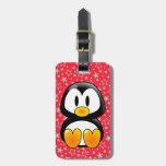 etiqueta del equipaje del tux del pingüino del beb etiquetas maletas