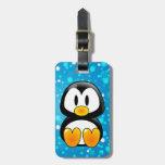 etiqueta del equipaje del tux del pingüino del beb etiquetas para maletas