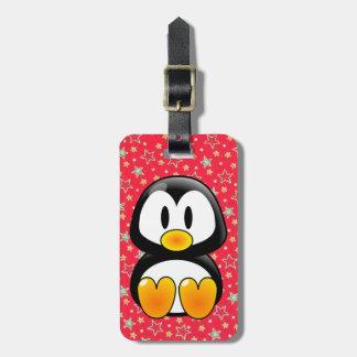etiqueta del equipaje del tux del pingüino del beb etiquetas de equipaje