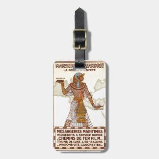 Etiqueta del equipaje del viaje de Egipto del