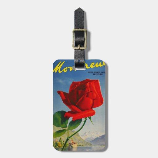 Etiqueta del equipaje del viaje del rosa de las mo etiquetas bolsa