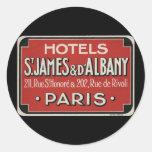 Etiqueta del equipaje del viaje del vintage de Par