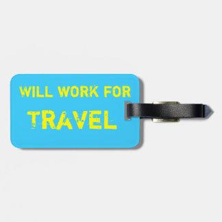 Etiqueta del equipaje del viaje etiqueta para equipaje