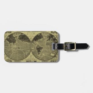 Etiqueta del equipaje del viajero de mundo etiquetas de equipaje