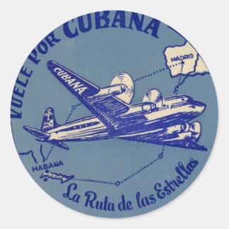 Etiqueta del equipaje del vintage de Cubana