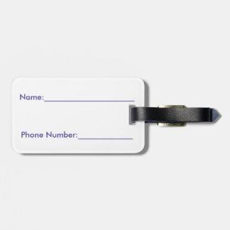 """Etiqueta del equipaje """"el iris """" etiquetas de equipaje"""