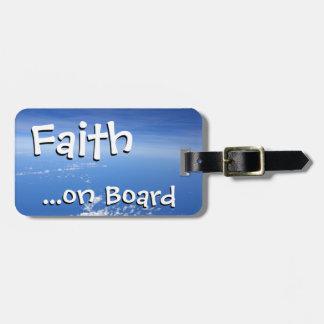 Etiqueta del equipaje - fe a bordo etiqueta de equipaje