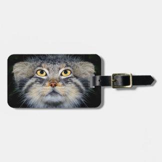 Etiqueta del equipaje - gato de los pallas etiquetas de maletas