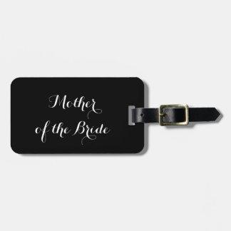 Etiqueta del equipaje para la madre de la novia