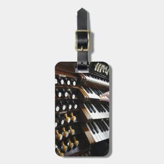 Etiqueta del equipaje para los organistas