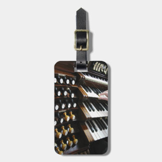Etiqueta del equipaje para los organistas etiquetas bolsa