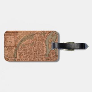 etiqueta del equipaje París mapa Etiqueta Para Maleta