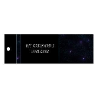 Etiqueta del espacio tarjetas de visita mini
