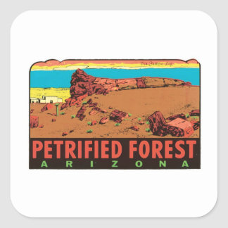 Etiqueta del estado de Arizona AZ del bosque
