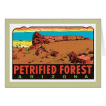 Etiqueta del estado de Arizona AZ del bosque Tarjeta De Felicitación