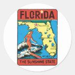 Etiqueta del estado de la Florida FL del viaje del