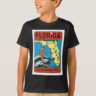 Etiqueta del estado de la Florida FL del viaje del Playera