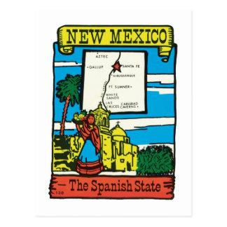 Etiqueta del estado de New México nanómetro del Tarjetas Postales