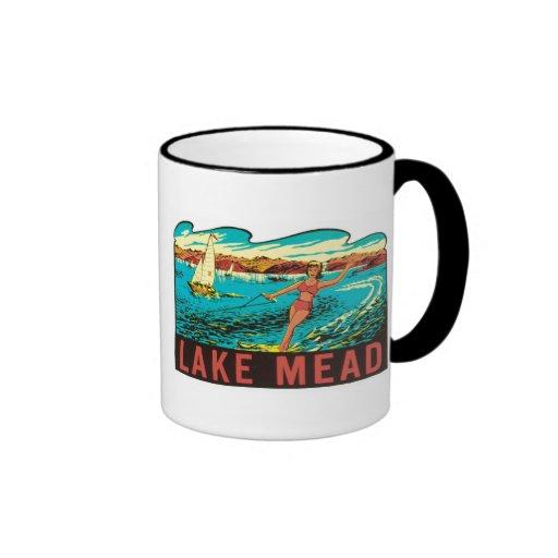 Etiqueta del estado del lago Mead Nevada Taza De Dos Colores