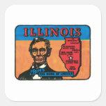 Etiqueta del estado del vintage de Illinois IL