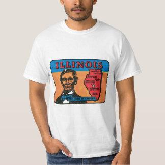 Etiqueta del estado del vintage de Illinois IL Camisas