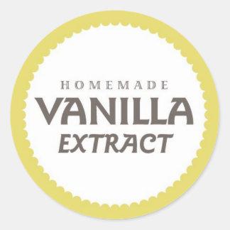 Etiqueta del extracto de vainilla