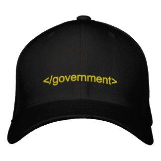 Etiqueta del extremo del gobierno gorra bordada