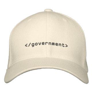Etiqueta del extremo del gobierno gorra de béisbol bordada