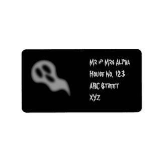 Etiqueta del fantasma de Halloween Etiqueta De Dirección