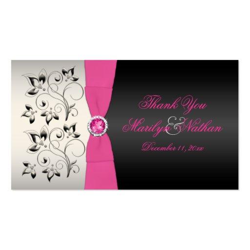 Etiqueta del favor de la bodas de plata rosada, ne tarjeta personal